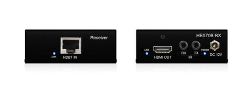 BluStream HEX70B-KIT 4K HDBaseT Extender Set With Bi-Directional IR & PoH (up to 40m)