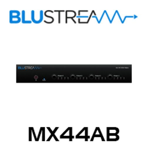 BluStream MX44AB 4x4 4K HDMI Matrix with Audio Breakout and EDID Management