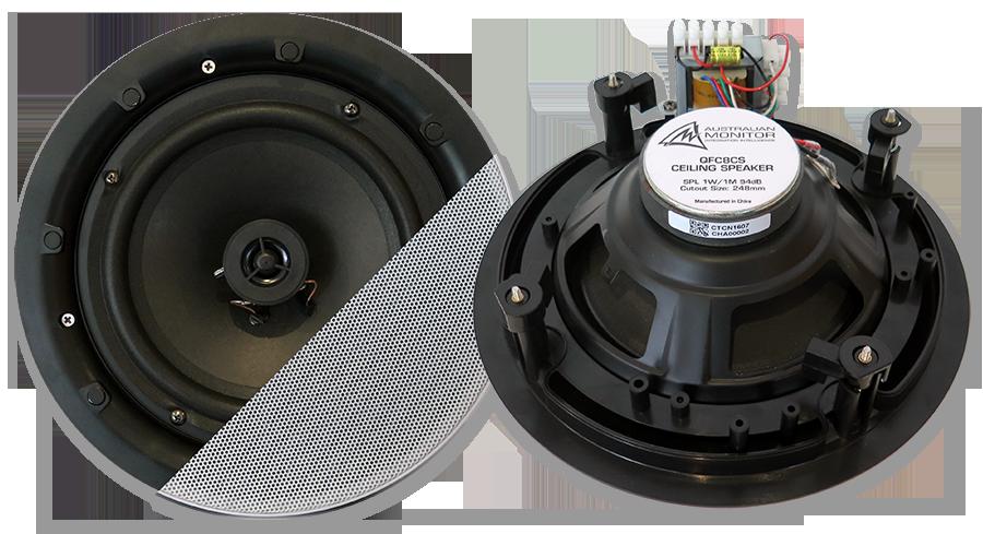 "Australian Monitor QFC8CS 8"" 70/100V QuickFit Coaxial In-Ceiling Speaker"