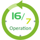 16/7 Operation