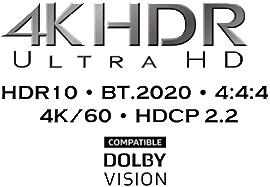 logo 4K HDR Dolby Atmos