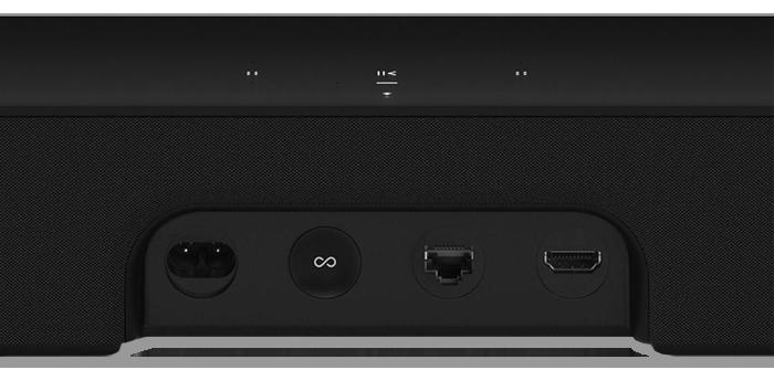 Sonos BEAM Wireless Smart Soundbar for TVs - connectivity panel