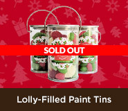 Lolly-Filled Paint Tins For Christmas