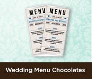 Wedding Menu Chocolates