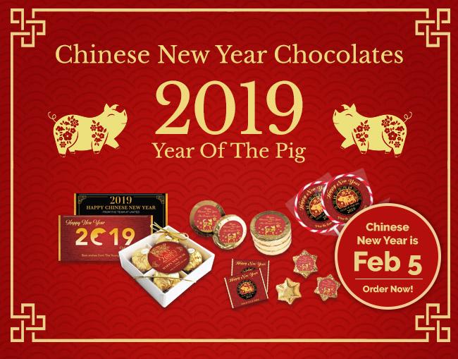 Chinese New Year Chocolates - Personalised Lunar New Year Chocolates