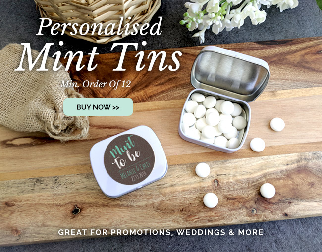 Personalised Mint Tins