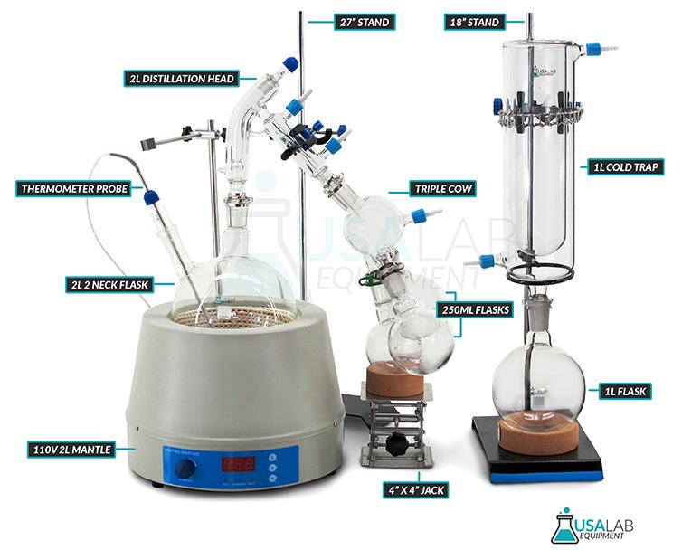 Usa Lab Equipment 2000ml    2l Short Path Distillation Kit