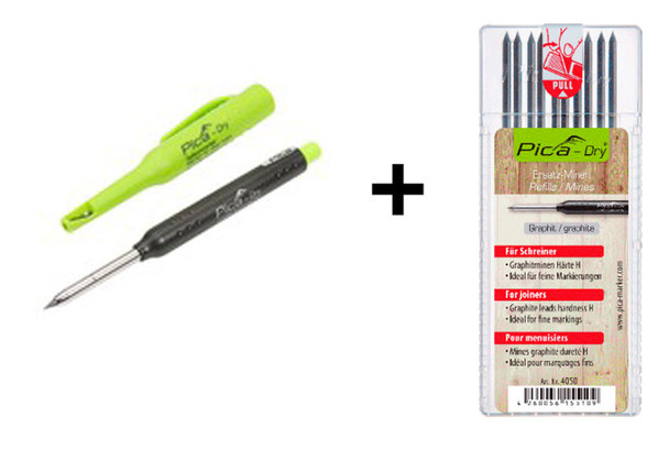 """Pica Dry Automatic Pencil 3030 with Refill - """"H"""" Hardness 4050 Combo (5050)"""