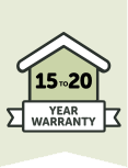 15 to 20 Year Warranty