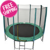 GREEN 12ft (8 Pole) Safety Net for Trampoline