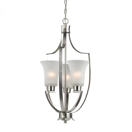 Elk Cornerstone 14.5 Inch Foyer Nickel Pendant Light-7703FY/20