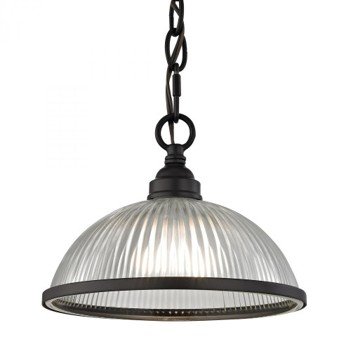Elk Cornerstone Liberty Park Dome Shade Bronze Pendant Light-7661PS/10