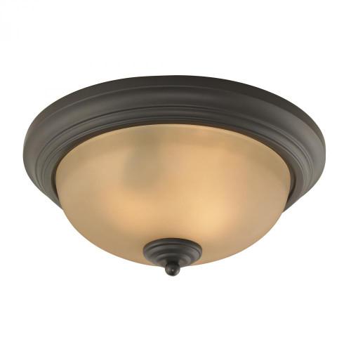 Elk Cornerstone Huntington 2 Light Ceiling Lamp In Oil Rubbed Br 13X35 7003Fm/10