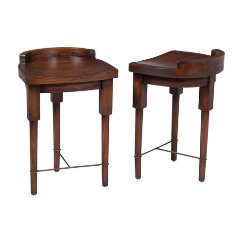 Guild Masters European Farmhouse Counter Stool In Deep Forest Stain 654002