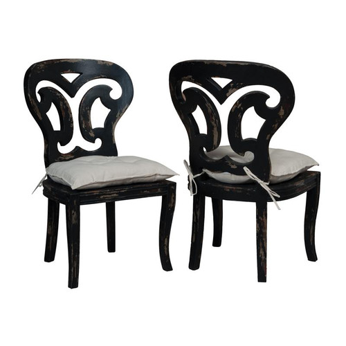 Guild Masters Artifacts Side Chairs In Vintage Noir - Set Of 2 694509P