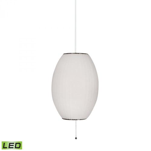 Lamp Works Cigar LED White Pendant Light-401-LED
