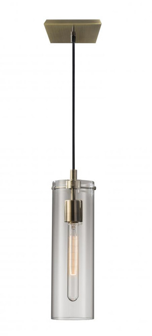 Adesso Dalton Antique Brass Pendant Light-3851-21