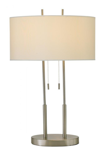 Adesso Duet Table Lamp In Silver 4015-22