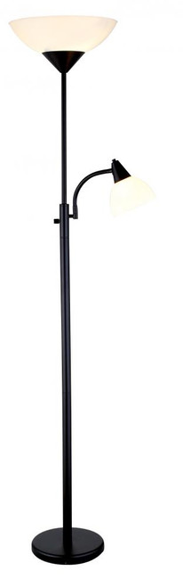 Adesso Piedmont Combo Floor Lamp In Black 7202-01