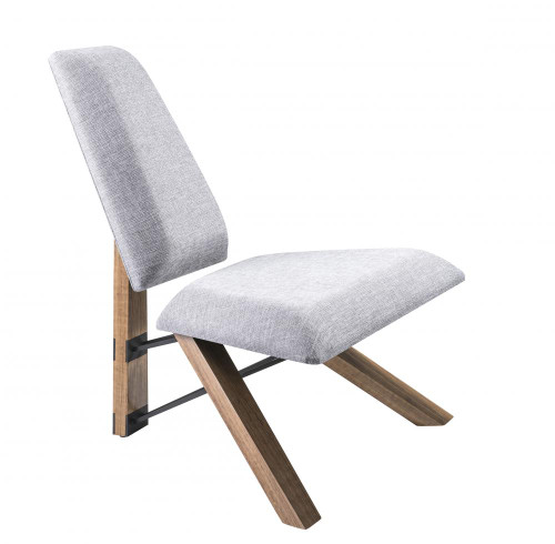 Adesso Hahn Chair In Gray Gr2100-03