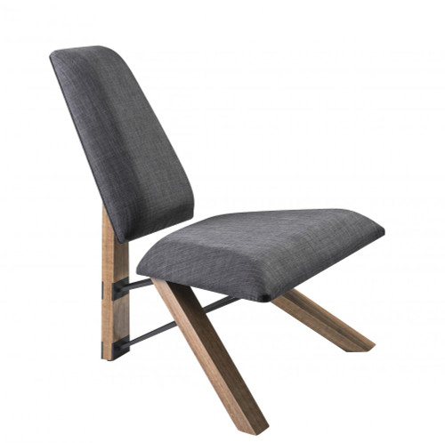 Adesso Hahn Chair In Gray Gr2100-10