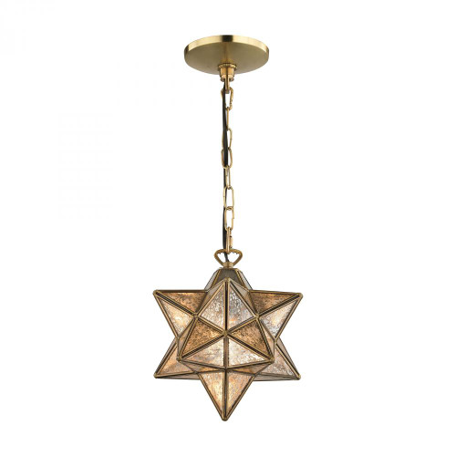 Sterling Industries 9 Inch Moravian Gold Pendant Light-1145-008