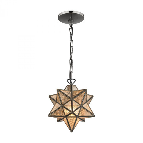 Sterling Industries 9 Inch Moravian Bronze Pendant Light-1145-009