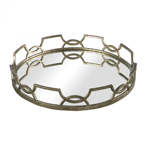 Sterling Industries Hucknall Iron Scroll Mirrored Tray 16X16 114-90