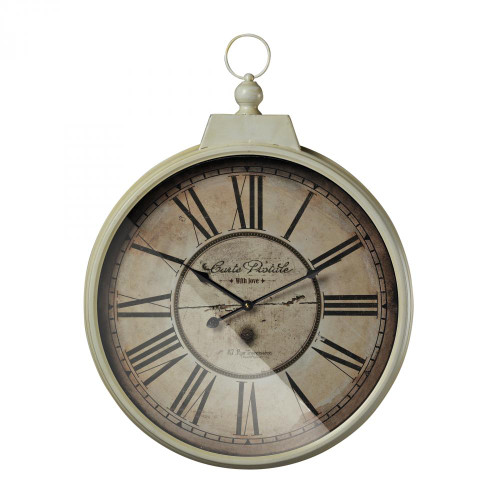 Sterling Industries Carte Postal Clock With Antique Cream Metal Frame 118-042