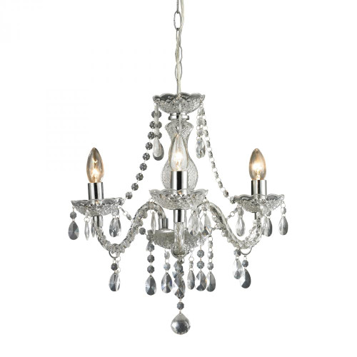 Sterling Industries Theatre-3 Light Clear Mini Chandelier 144-015