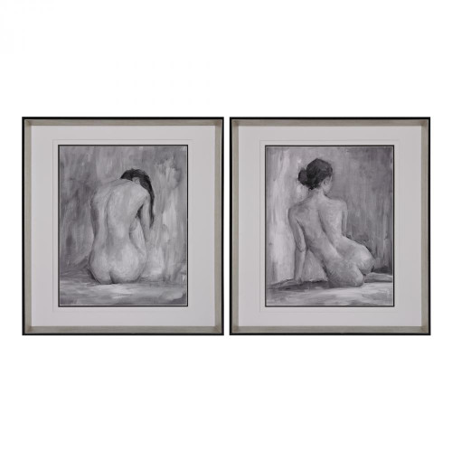 Sterling Industries Wall Art-Figure In Black And White I And Ii - Fine Art Print Under Glass 151-001/S2