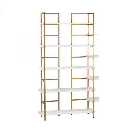 Sterling Industries White And Gold Shelving Unit 351-10204