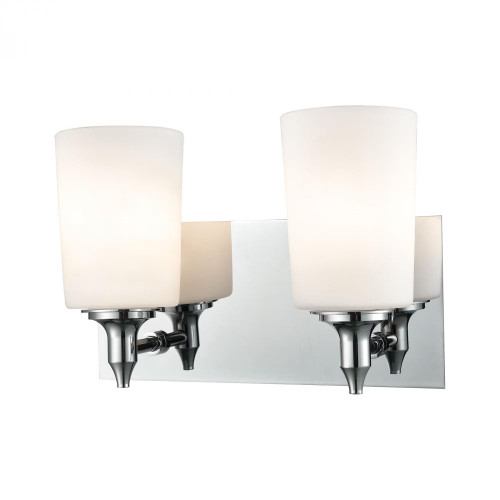 Alico Alton Road 2 Light Vanity In Chrome And Opal Glass Bv2412-10-15