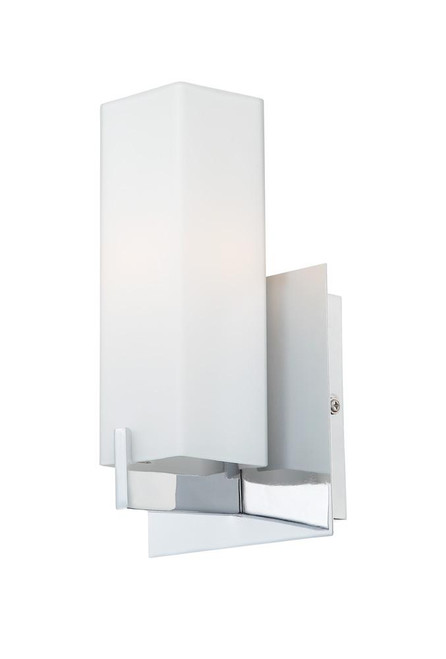 Alico Moderno 1 Light Sconce In Matte Satin Nickel And White Opal Glass Bv281-10-16M