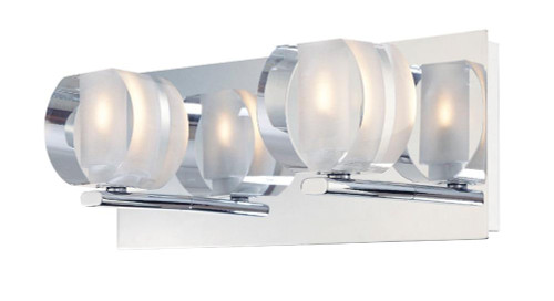 Alico Circo 2 Light Vanity In Chrome And Polished Clear Glass Bv302-90-15