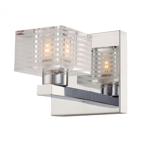 Alico Quatra 1 Light Vanity In Chrome And Clear Glass Bv311-90-15