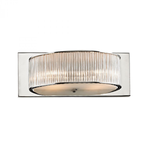 Alico Somerset 2 Light Vanity In Crystal Glass And Chrome Bv361-0-15