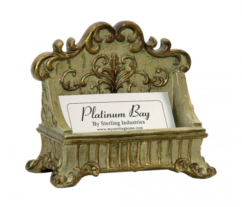 Home Decor By Sterling Industries Lucinda Scroll Card Holder Desk Accessory 91-3387