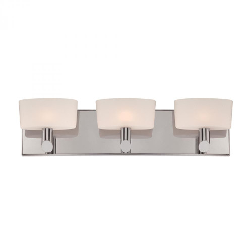Alico Toby 3 Light Vanity In Satin Nickel And White Opal Glass Bv6023-10-16M