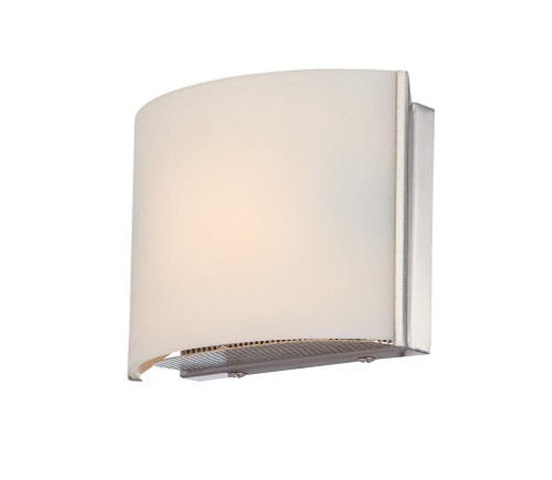 Alico Pandora 1 Light Vanity In Satin Nickel And White Opal Glass Bv6T1-10-16M
