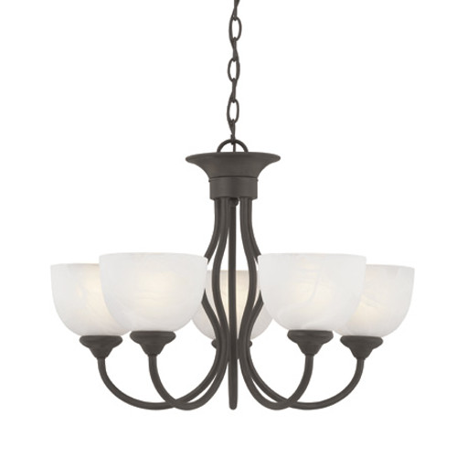 Thomas TAHOE 5 Light Brushed Nickel Chandelier-SL801578