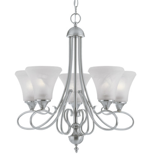 Thomas ELIPSE 5 Light Brushed Nickel Chandelier-SL811578