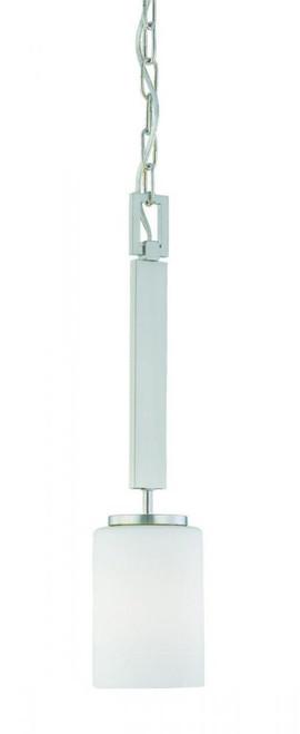 Thomas Pendenza Cylinder Shade Brushed Nickel Pendant Light-SL891078