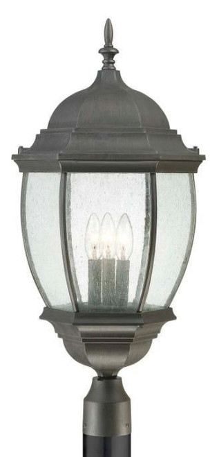 Thomas 1 Light Die-Cast Aluminum Outdoor Post Lantern In Painted Bronze Finish Sl901063