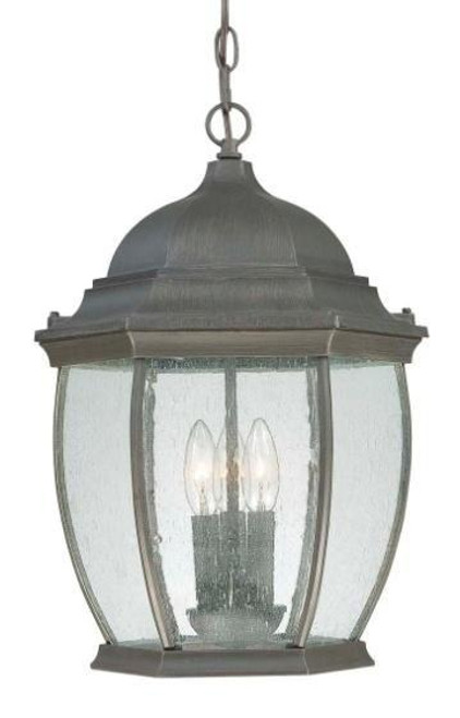 Thomas 1 Light Die-Cast Aluminum Outdoor Pendant Lantern In Painted Bronze Finish With Clear Seedy Glass Sl923363