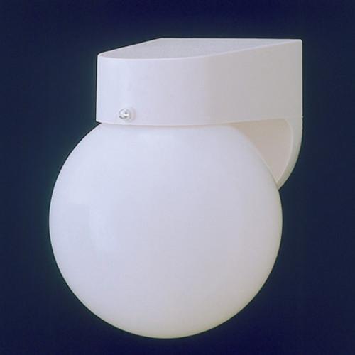 Thomas 1 Light Durable White Plastic Outdoor Wall Fixture With White Acrylic Globe Sl94358