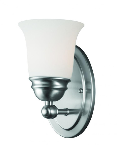 Thomas Bella 9In 1 Light Wall Sconce In Brushed Nickel Finish With Etched Glass Tn0003217