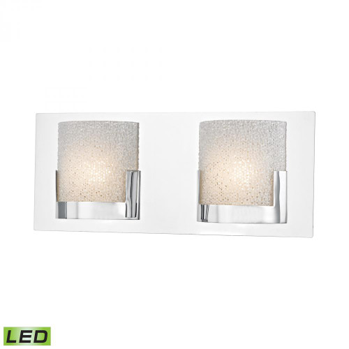 Alico Ophelia 2 Light LED Vanity In Chrome And Clear Glass Bvl1202-0-15