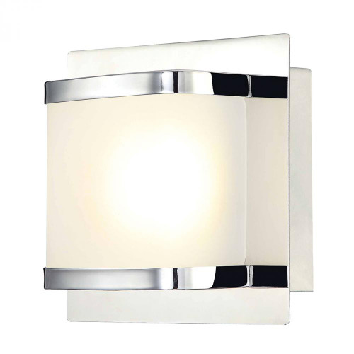 Alico Bandeaux 1 Light LED Vanity In Chrome And Opal Glass Bvl4001-10-15