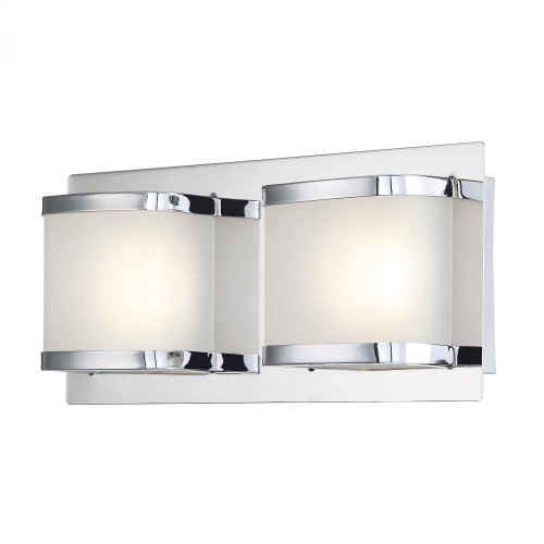 Alico Bandeaux 2 Light LED Vanity In Chrome And Opal Glass Bvl4002-10-15